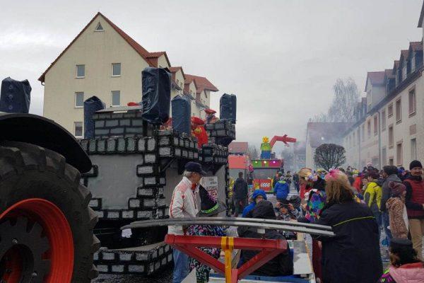 Karneval Kitzscher 2020 mit der Minitram