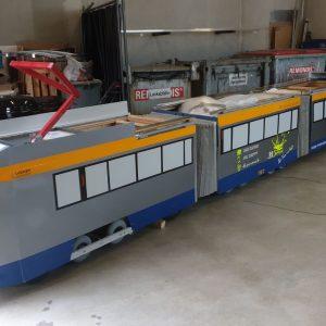 Mini Tram1157 in der Werkstatt Dölitz